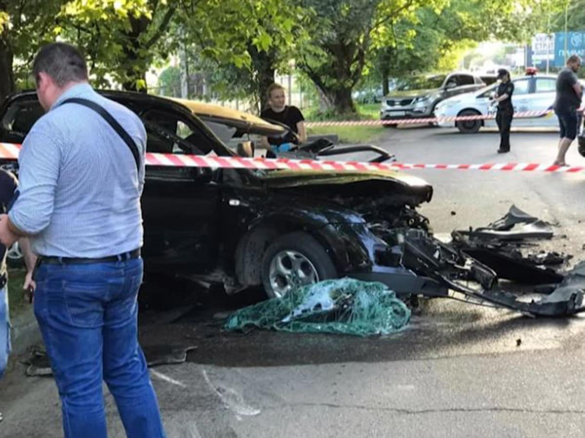 олександр Костюк автомобіль аварія фото