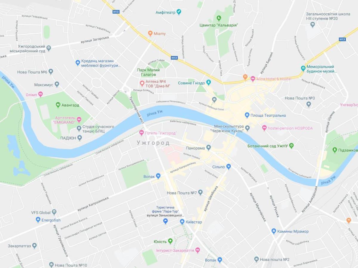 Ужгород нові назви вулиць фото