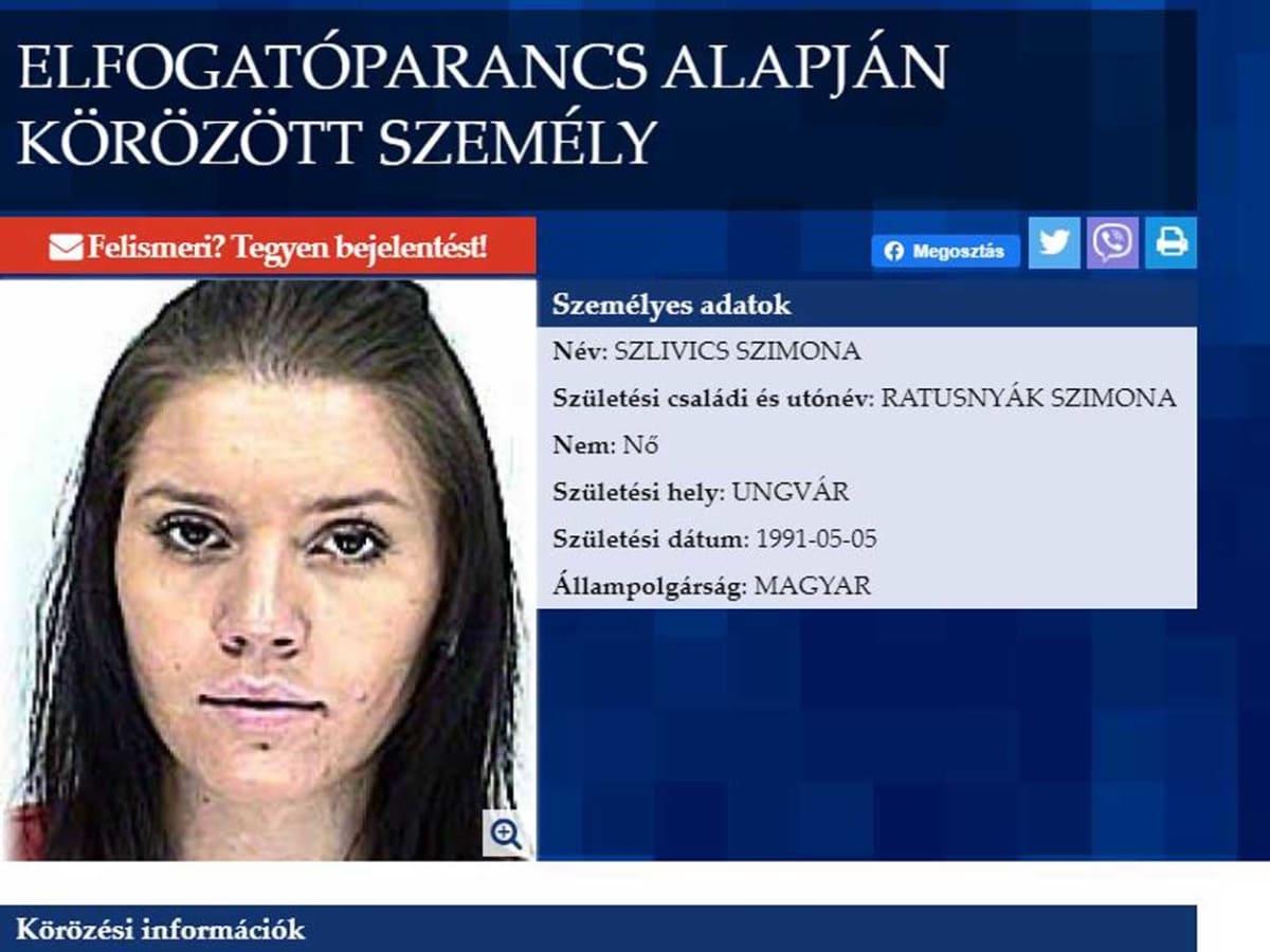 Угорщина оголосила в розшук доньку екс-мера Ужгорода Сергія Ратушняка фото