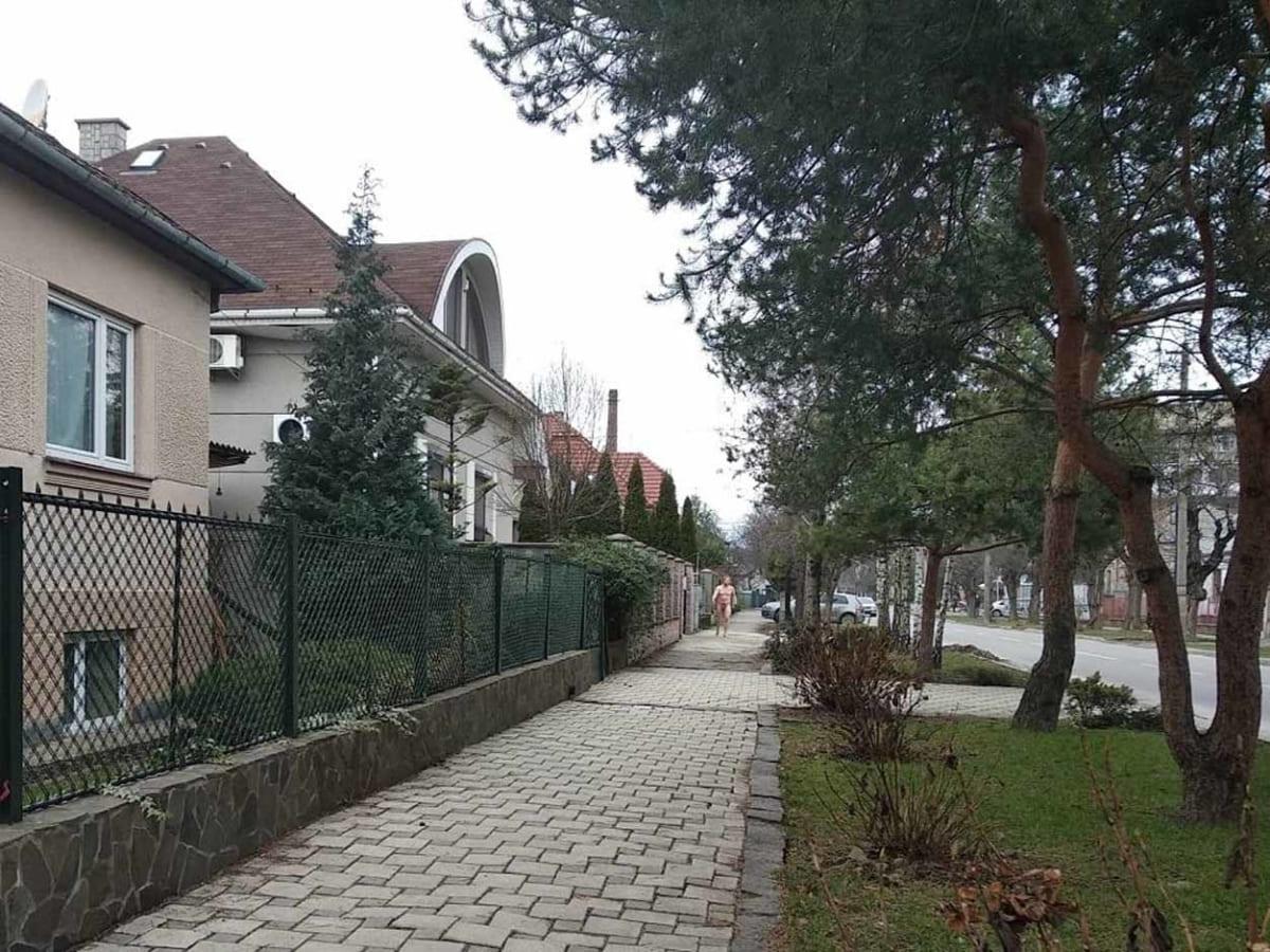 Вулицями Ужгорода гуляє оголений чоловік (Фото)