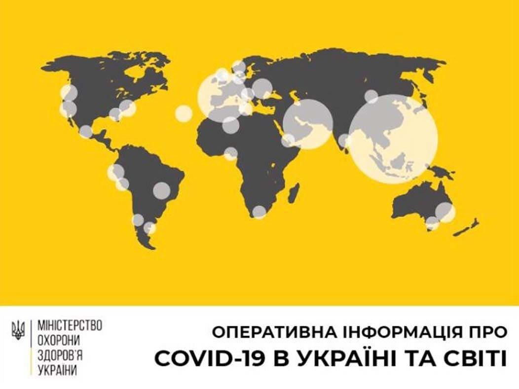 На ранок 30 березня підтверджено 480 випадків COVID-19 в Україні фото