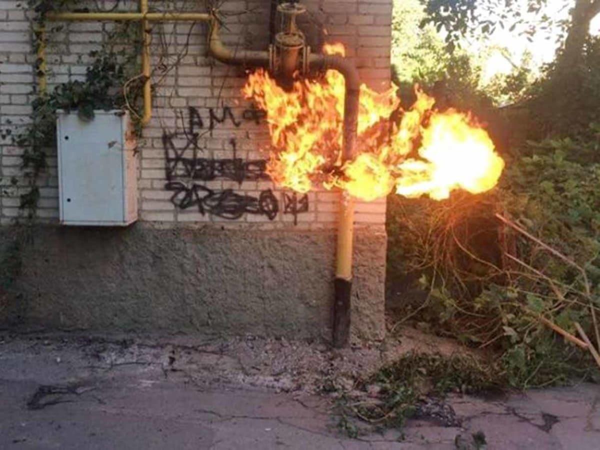 В Ужгороді горів газовий стояк