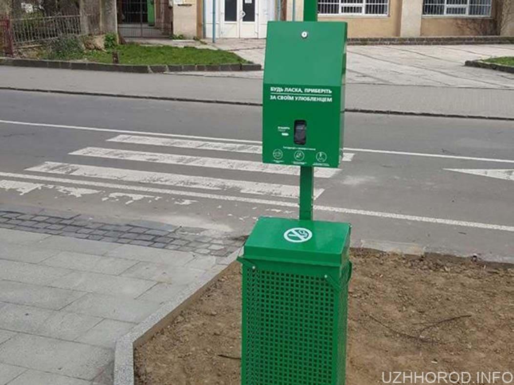 В Ужгороді встановили спеціальні станції для прибирання за собаками 2 фото