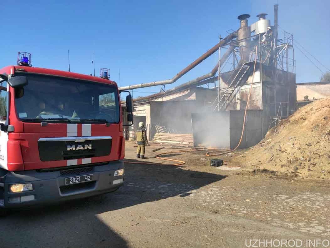 Ужгородські рятувальники декілька годин ліквідовували загорання тирси фото