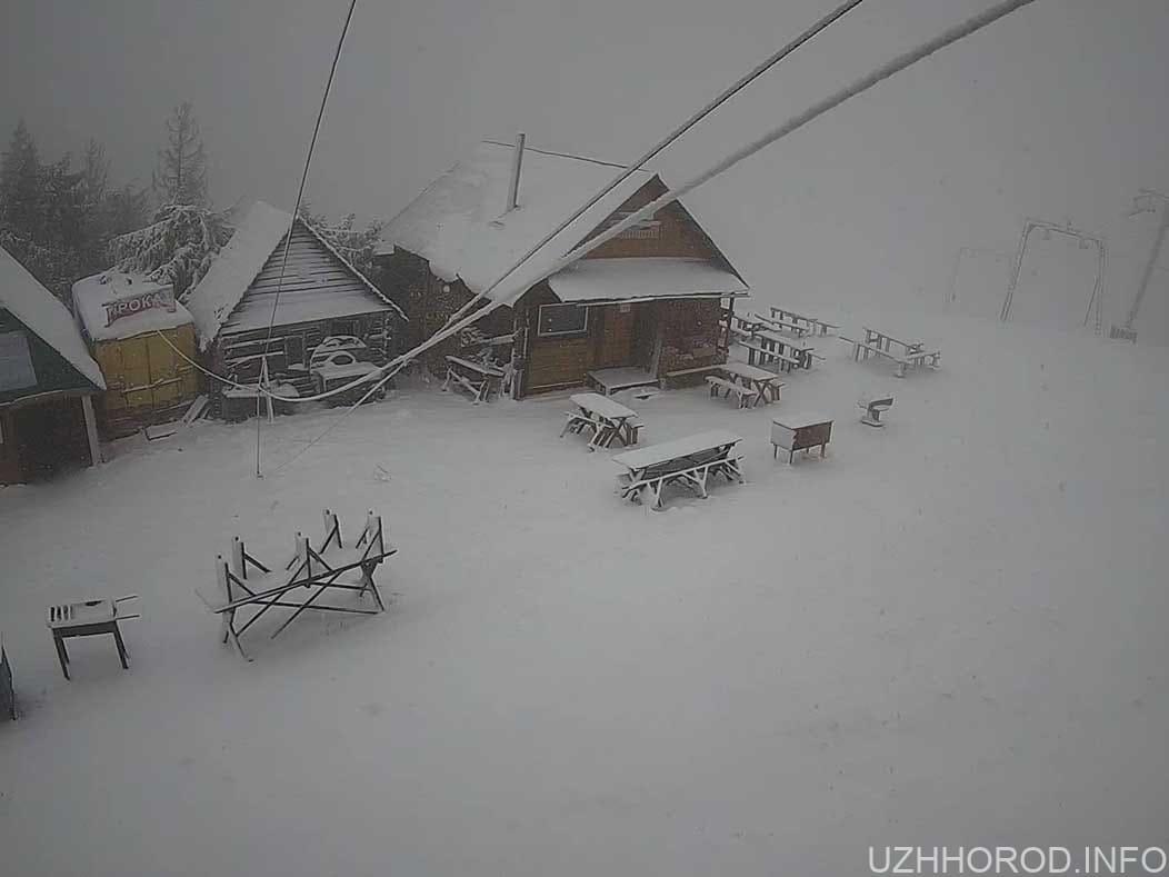 Карпати рясно вкриває снігом фото