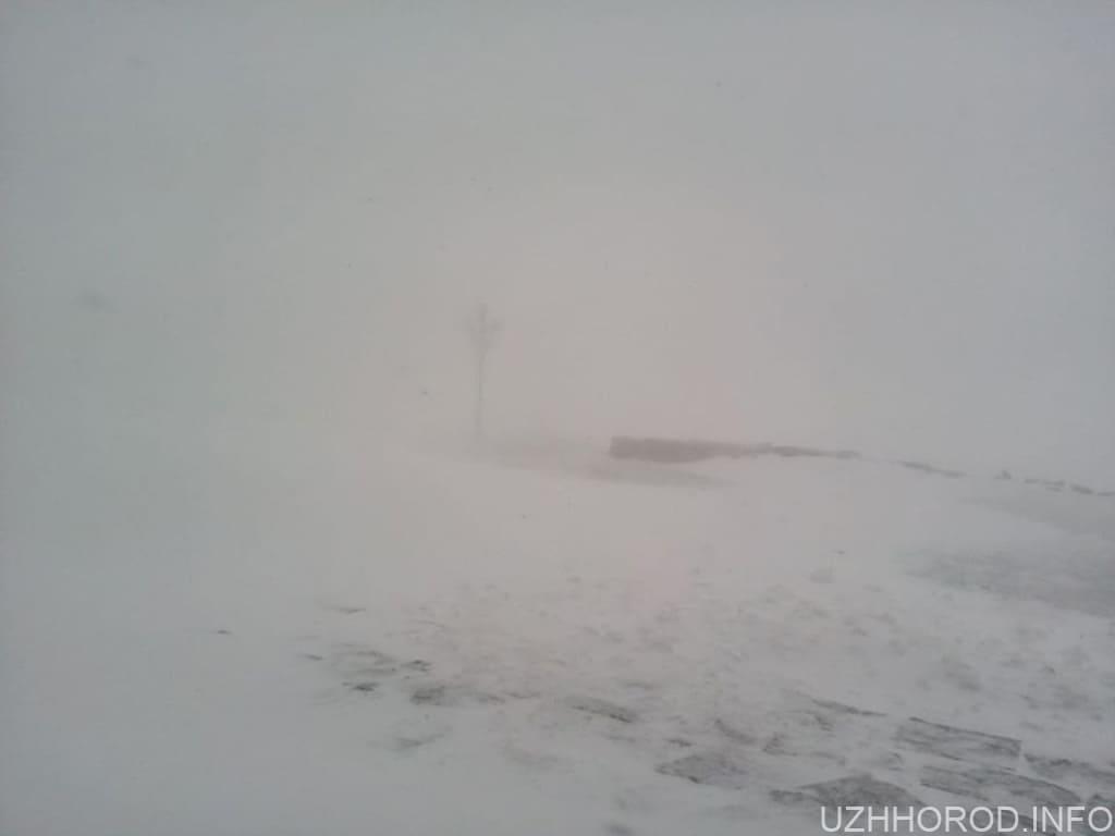 На високогір'ї Карпат мінус 4 і падає сніг