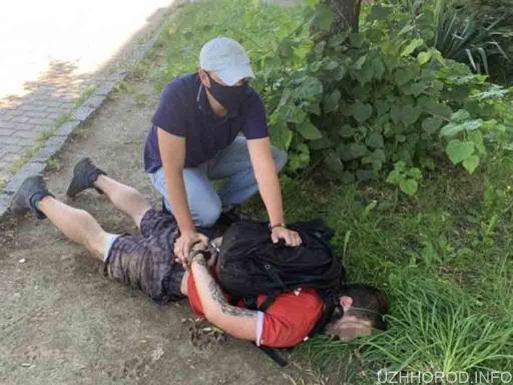 Поліцейські Ужгорода затримали наркозбувача фото
