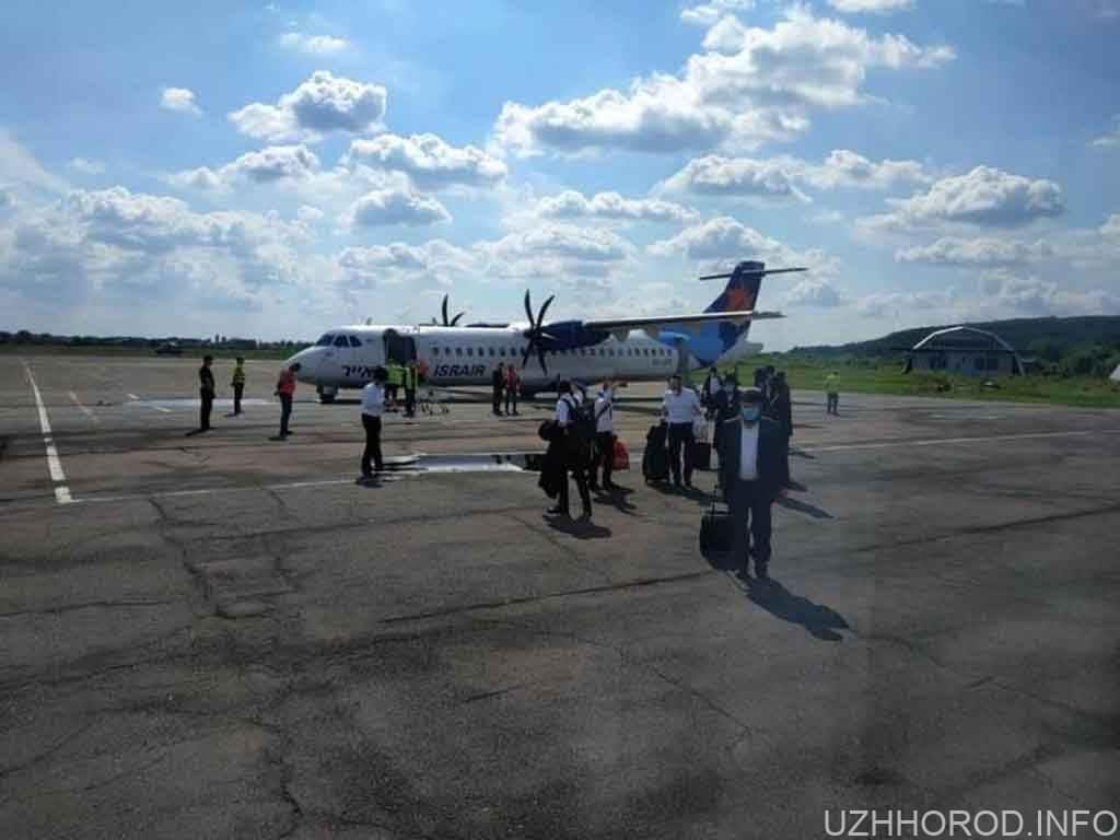 Ужгородський аеропорт прийняв чартерний літак із Ізраїлю фото