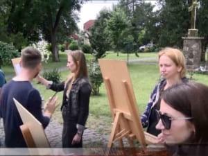 Ужгородський художник провів пленер (ВІДЕО)