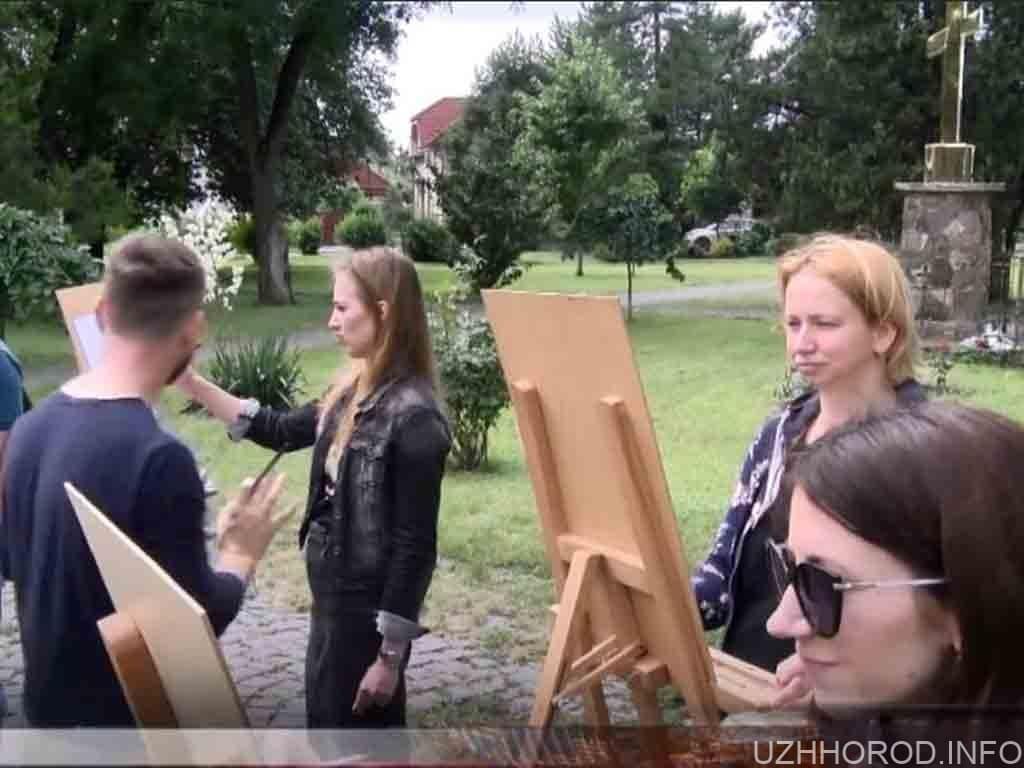 Ужгородський художник провів пленер фото