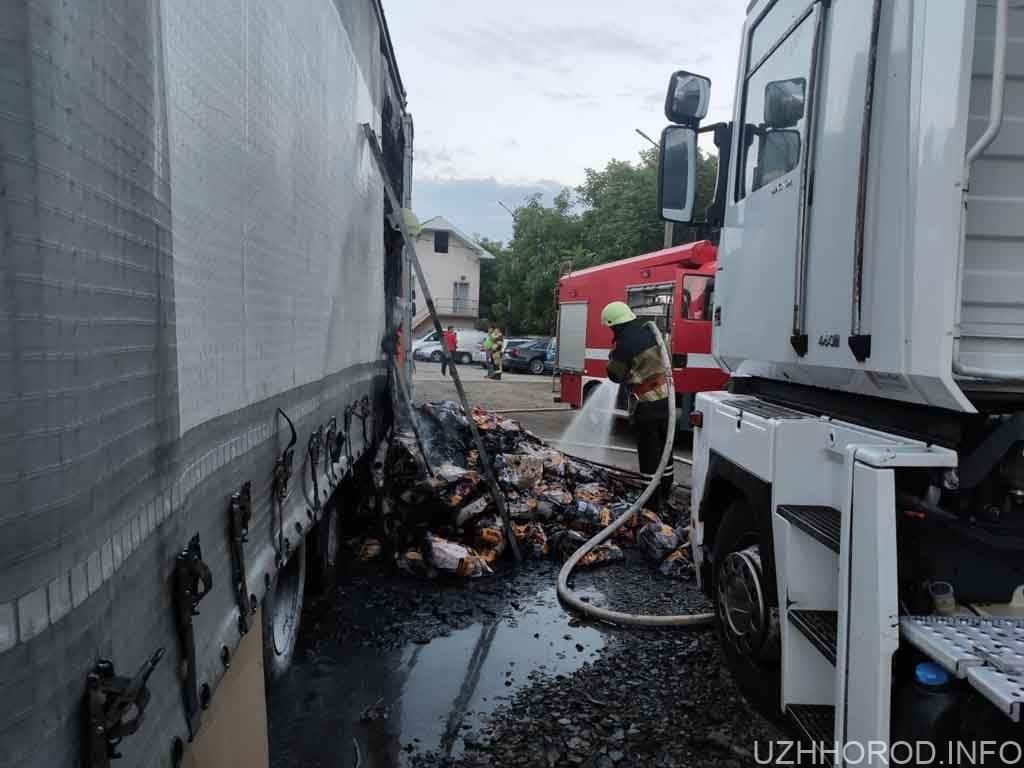 В Ужгороді горіла вантажівка фото