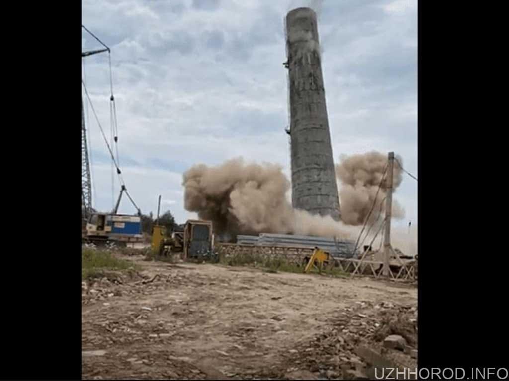 в Ужгороді підірвали бетонну трубу фото