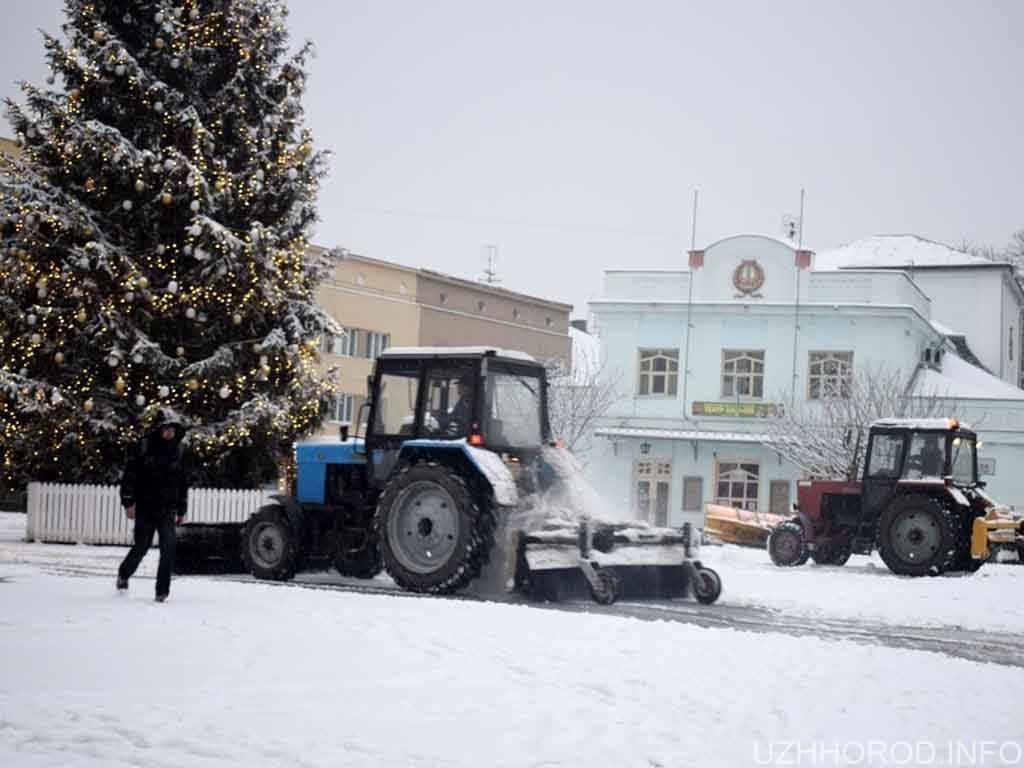 прибирання снігу Ужгород фото