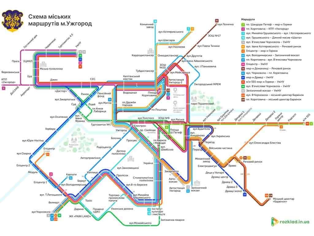 В Ужгороді розробили візуалізацію схеми руху громадського транспорту (ФОТО)