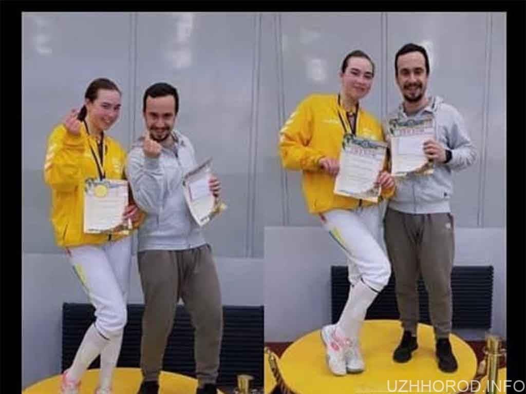 ужгородка чемпіонка України фехтування фото