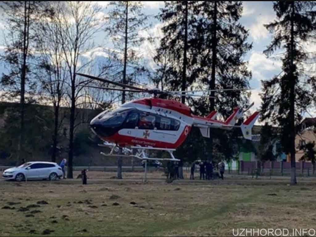 медичний гелікоптер Закарпаття фото
