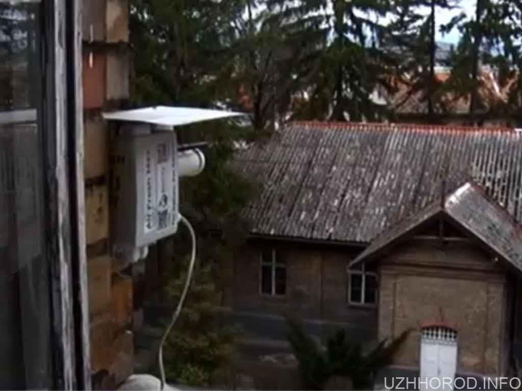 В Ужгороді встановили пристрій для контролю стану повітря (ВІДЕО)