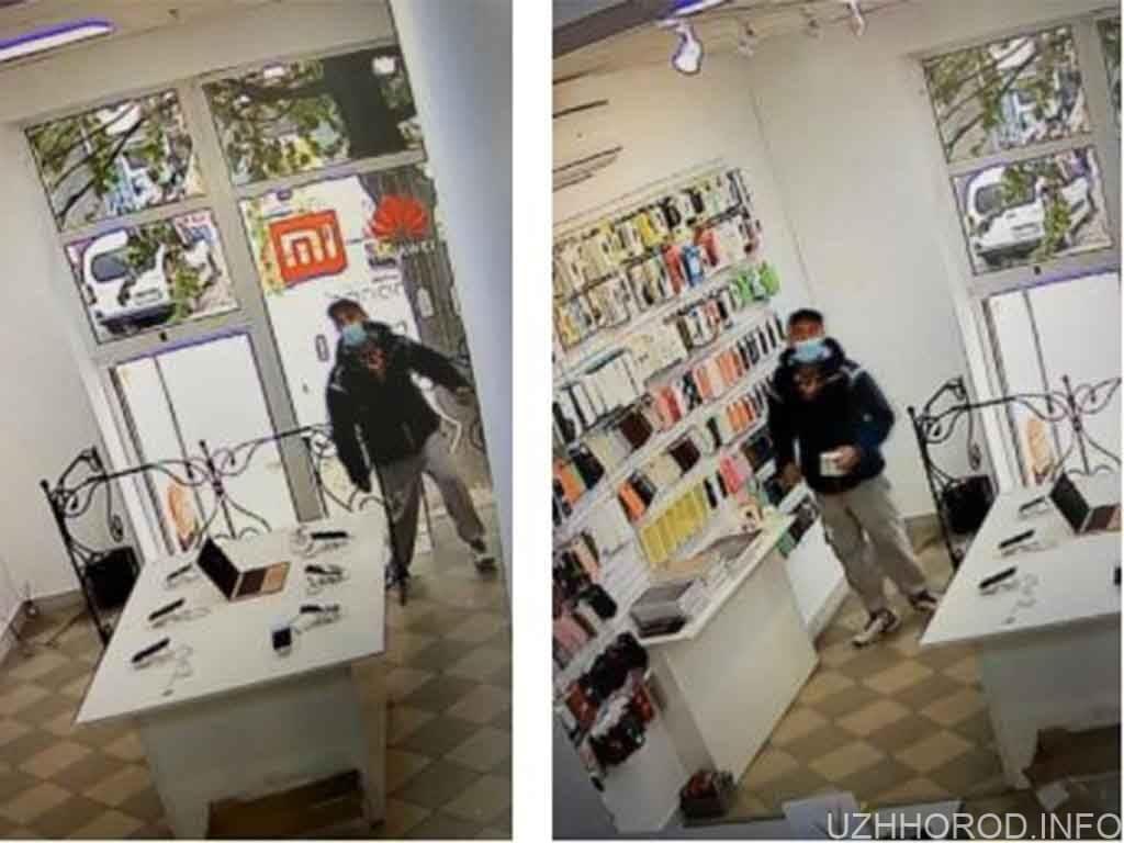 В Ужгороді чоловік викрав із крамниці навушники(ВІДЕО)