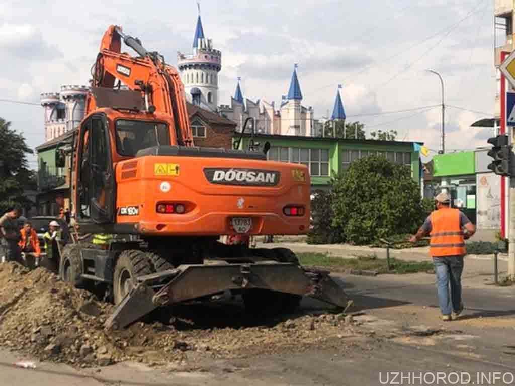 В Ужгороді через ремонт перекриють рух на вулиці Собранецькій