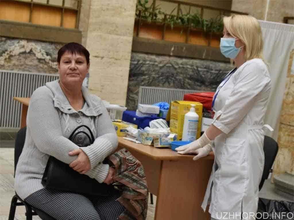 У приміщенні Закарпатської облради відкрили центр вакцинації